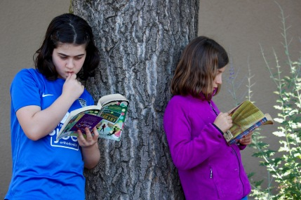 campers reading