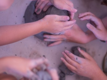 many hands clay olympics