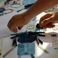 making art with shibori tools!