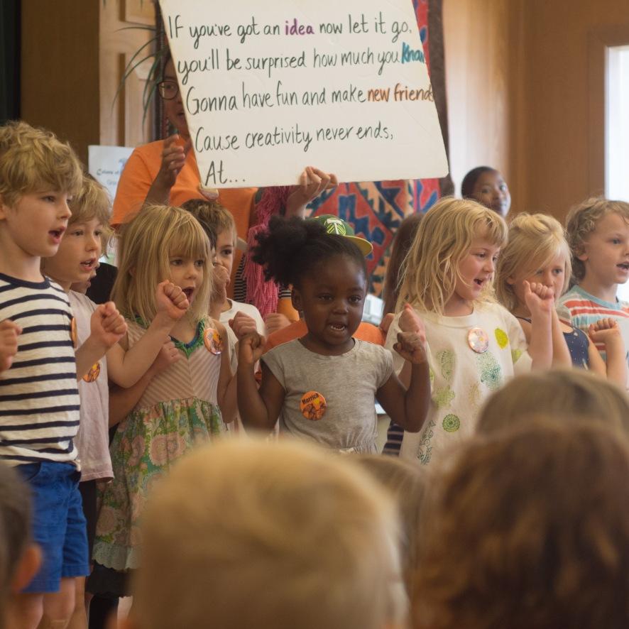 WK 2 Orange Group sings Camp SOng!